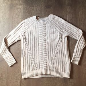 Cream chunky sweater by Autumn Cashmere